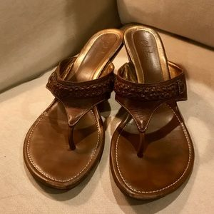 👡 Cole Haan Leather Wedge sandal